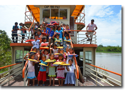 Adopt-A-School aboard the Amazon Queen
