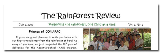 Rainforest Review Newsletter 1
