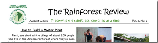 Rainforest Review August 2010